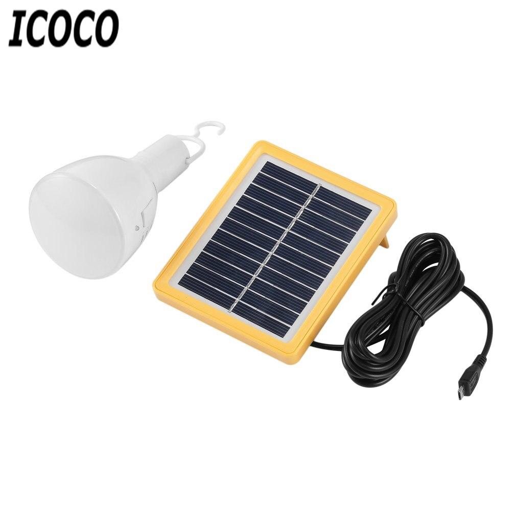ICOCO 1pc Portable Solar Power 39 LEDs Bulb Lamp Retractable Flashlight Solar Panel Charged Energy Lamp Camping Night Light