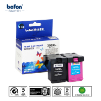 Befon 2Pcs Ink Cartridge For 300XL 300 CC641EE CC644EE Compatible HP Deskjet 1015 1515 2515 2545
