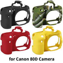 Qeento High Quality SLR Camera Bag for Canon EOS 80D Lightweight Camera Bag Case Cover for canon 80D Camouflage yellow red black стоимость