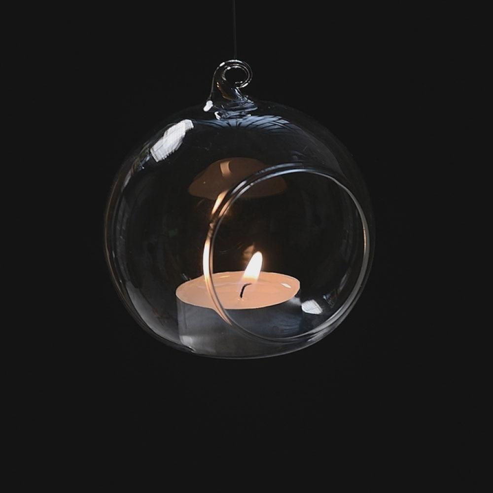 Чай светильник держатель безделушка шара подсвечник Свеча светильник держатель лампы в форме свечи светильник Прозрачный Стекло-6 см Стекло держатель