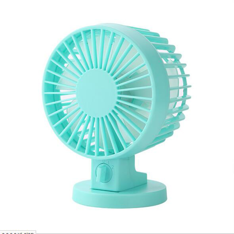 GRTCO Summer Office USB Mini Desk Fan Portable Fan Leque Air Conditioner DC 5V 2 Blades Cooler Adjustable Speed Fan