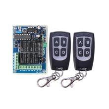 12 v/24 v 4ch 10a relé de controle remoto sem fio lâmpada led interruptor transmissor 433 mhz tx rx