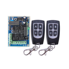 12V / 24V 4CH 10A Relay Wireless Remote Control Lamp LED Switch Transmitter 433Mhz TX RX