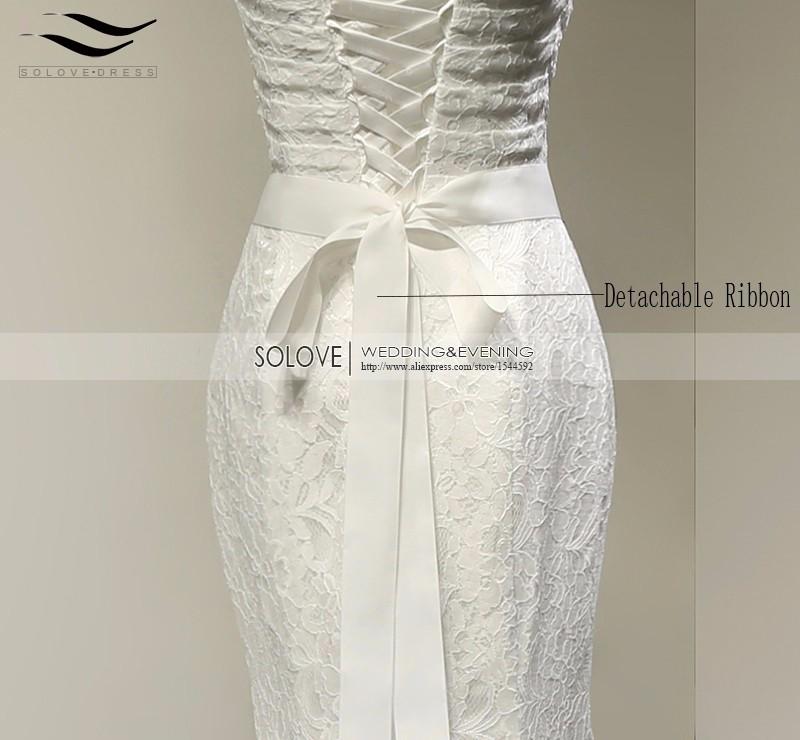 Vintage White Lace Charming Mermaid Wedding Dress