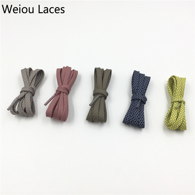 Offical Weiou New Flat 3M Reflective Shoelaces Runner Weave Tape Athletic Safety Shoe Laces Bootlaces For Running Boost 350 750