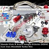 97 01 Civi*c B Type R(JDM) 1.6L DOHC VTEC 1 4 Turbo Kits Intercooler kit+Downpipe