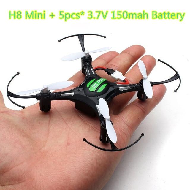 H8 mini drone jjrc headless modo 6 axis gyro 2.4g 4ch 360 graus rollover rc helicóptero 5 pcs 3.7 v 150 mah da bateria