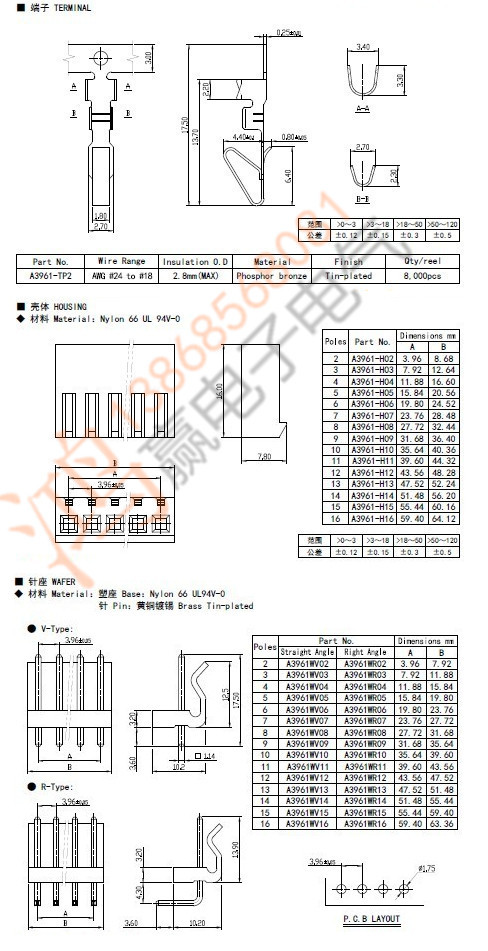 US $7.49 |20 set kit CH3.96 3.96mm 5 pin Wire with Male Connector on