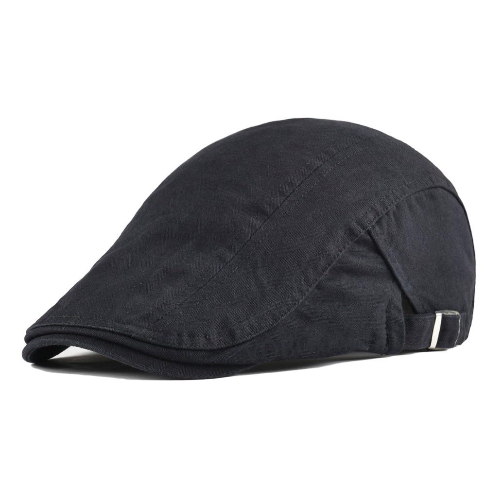 e3f12f738 VOBOOM Summer Cotton Flat Cap Ivy Caps Duckbill Newsboy Men Beret Women  Gatsby Cabbie Driver Hat Adjustable Boina