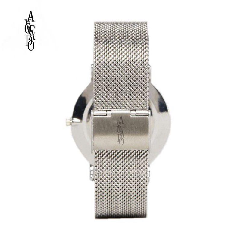 AVOCADO Srebrny Mesh Zegarek Unikalne Arabskie Numery Zegarki Casual - Zegarki damskie - Zdjęcie 2