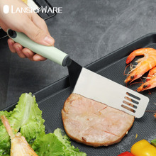 Stainless Steel Metal BBQ Grill Turner Spatula With Plastic Handle Kitchen Cooking Utensils For Cutlets Bacon Teppanyaki Pancake поло print bar bacon pancake