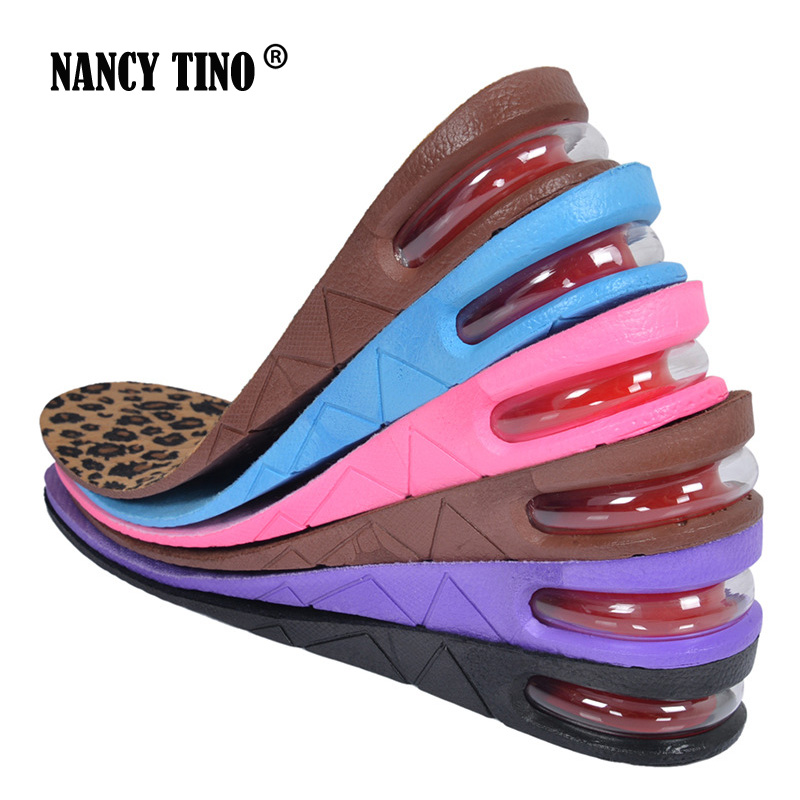 NANCY TINO Unisex Stealth Adjustable Increased Insoles For Men Women Shoes Pad Increase Height Insole Air Cushion Lift Pads Heel цена