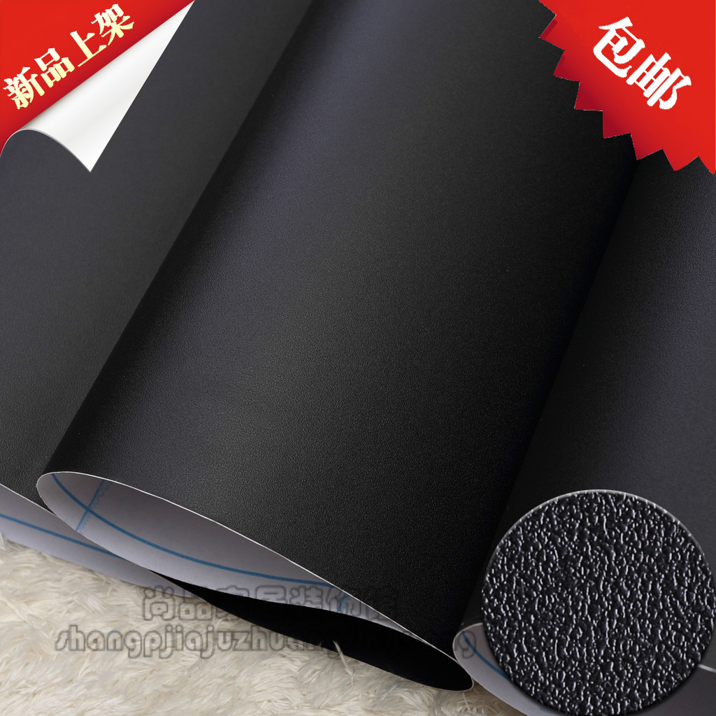 2016 new HOT waterproof nubuck textured self-adhesive wallpaper wall paper plain Boeing film black cabinet furniture renovation high grade pvc boeing film furniture sticker paint film self adhesive waterproof adhesive paper wallpaper wallpaper 255z
