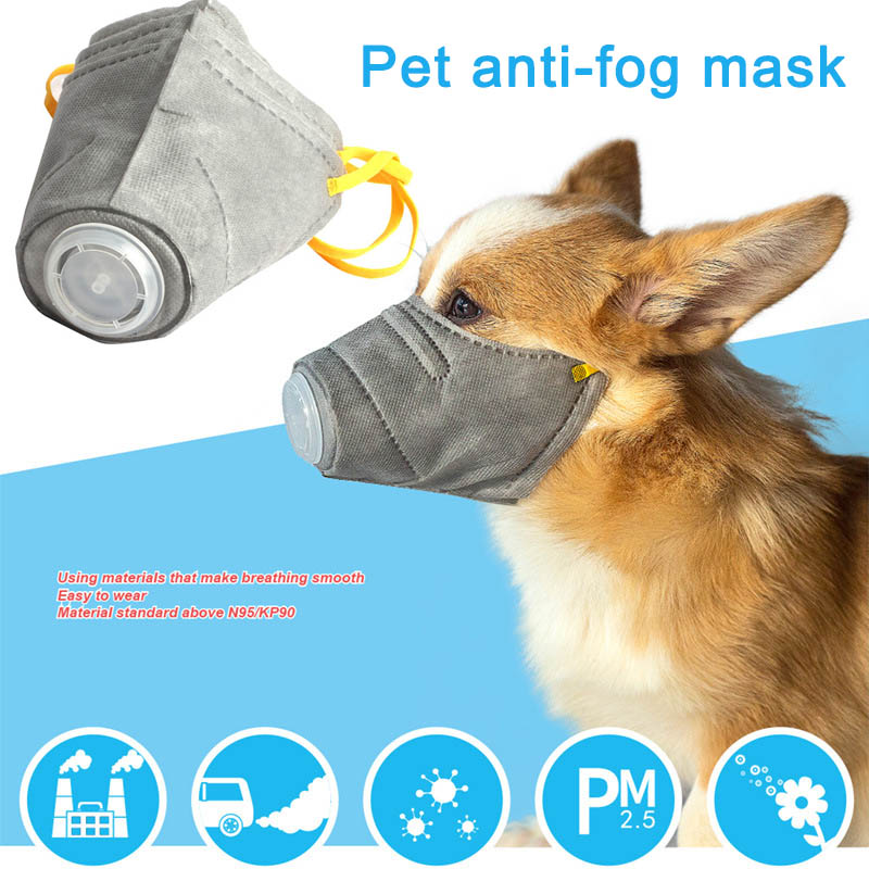 Ambicioso 3 Piezas Conjunto Perro Máscara Pm2.5 Filtro Anti-polvo Máscara Protectora Cubierta De La Boca Para Al Aire Libre Suministros Para Perros