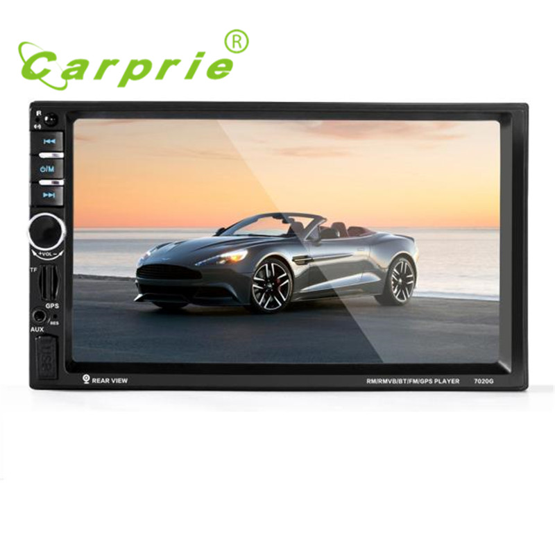 7''2017 fashion  HD Bluetooth Touch Screen Car GPS Stereo Radio 2 DIN FM/MP5/MP3/USB/AUX quality gift june13 7inch 2 din hd car radio mp4 player with digital touch screen bluetooth usb tf fm dvr aux input support handsfree car charge gps