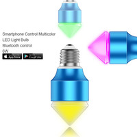 AC100V AC240V Magic Blue 6W E27/GU10 RGBW led light bulb Bluetooth 4.0 smart dimmable lighting lamp color change for IOS Android