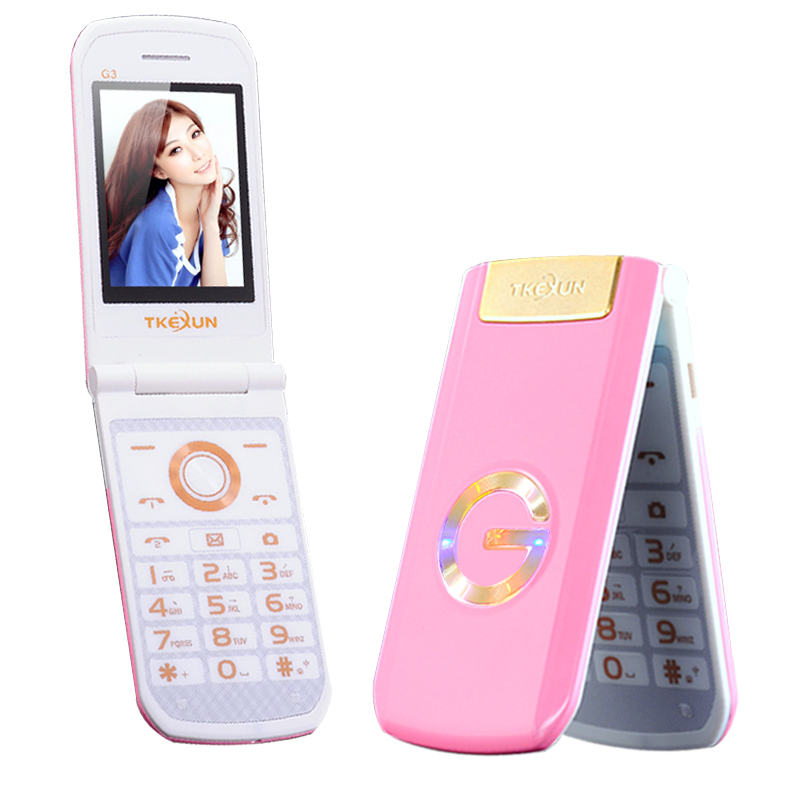 TKEXUN G3 Flip Dual SIM Card cellphone camera mp3 mp4 1200mAh Battery FM radio Cell Mobile