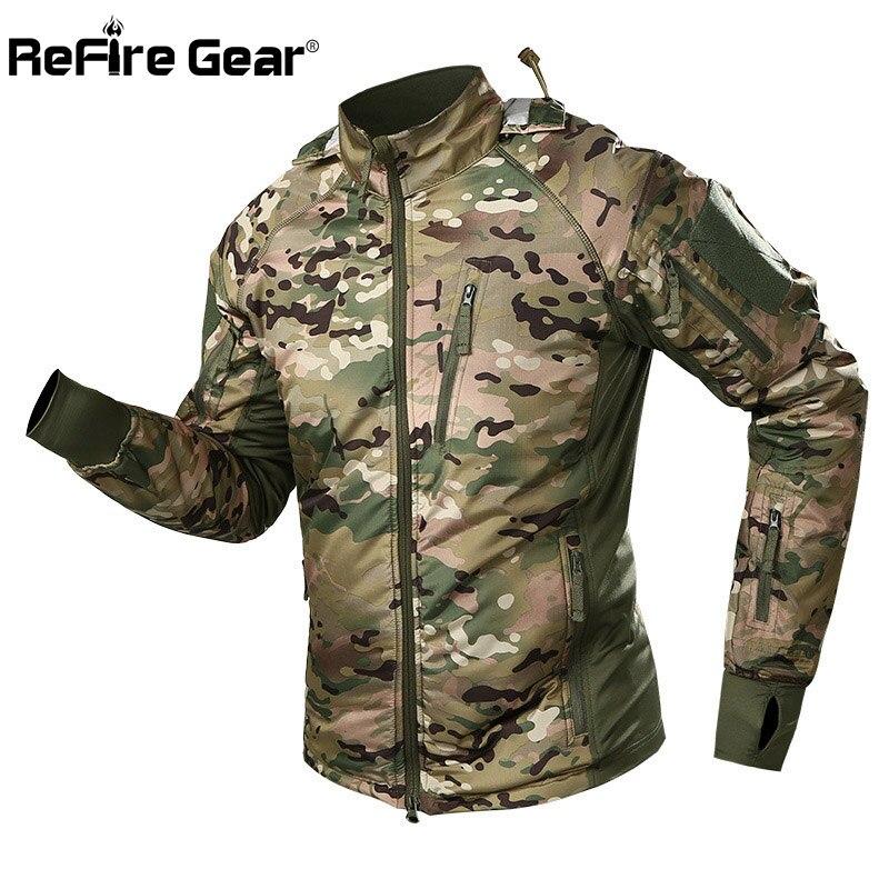 Refire gear 방수 전술 군사 재킷 남자 봄 위장 전투 재킷 육군 따뜻한 윈드 브레이커 미끄럼 방지 후드 코트-에서재킷부터 남성 의류 의  그룹 1