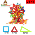 106PCS Mini Enlighten Bricks Educational Magnetic Designer Toy Square Triangle DIY Magnetic Building Blocks Toys For Children