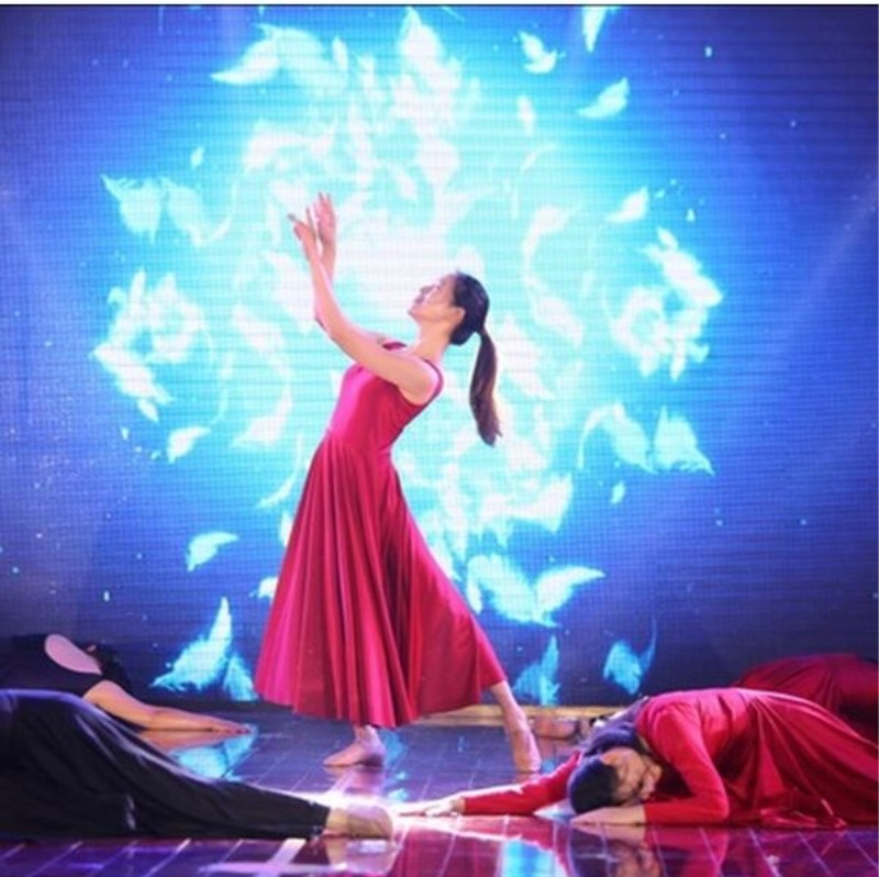 black red white modern dance costume adult ballet dress woman ballet costumes stage wear dancewear stage clothing for singers