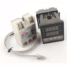REX-C100FK02-V * AN PID Regulador De Temperatura con 10DA/25DA/40DA/50DA/75DA Relé de Estado Sólido y 1 M K Termopar Tipo