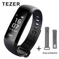 TEZER R5 max Original фитнес браслет de monitor de presión arterial con podómetro del deporte banda pulsera para hombres y mujeres