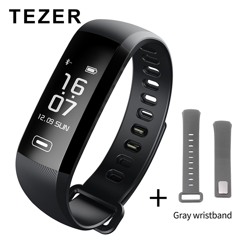 TEZER R5 Max Original фитнес браслет  Heart Rate Blood Pressure Monitor With Pedometer Sport Smart Bracelet Band For Men Women