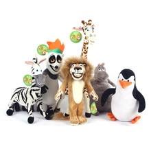 Venda quente personagens da equipe de madagascar brinquedos de pelúcia alex gloria marty melman pinguim julien brinquedos de pelúcia brinquedo do bebê crianças presente