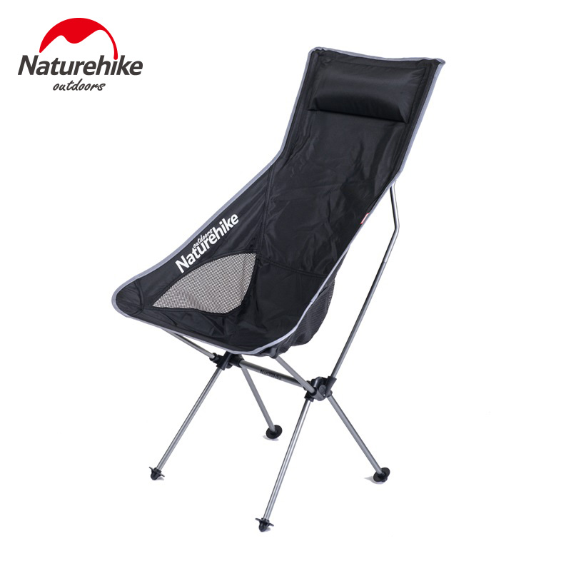 Naturehike Portable Folding Camping Fishing Chair Outdoor Picnic Beach Aluminum Lightweight Chairs Picnic BBQ Beach With Chairs beach chairs portable folding camping stool chair max load bearing 145 kg silla plegable can adjust the height