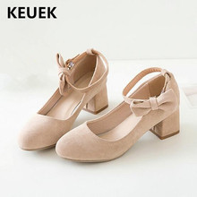 New Children Pink High-heeled Shoes Girls Princess Bow Beige Spring/Autumn Leather Shoes Kids Baby Fashion Dress Shoes 02C босоножки no pink crystal high heeled princess shoes