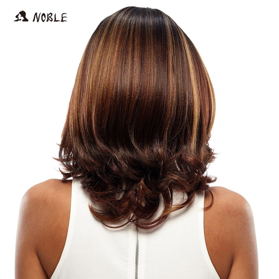 Noble Lace Front Wig Kort Loose Wave Syntetiskt Hår 16 tums paryk - Syntetiskt hår - Foto 3