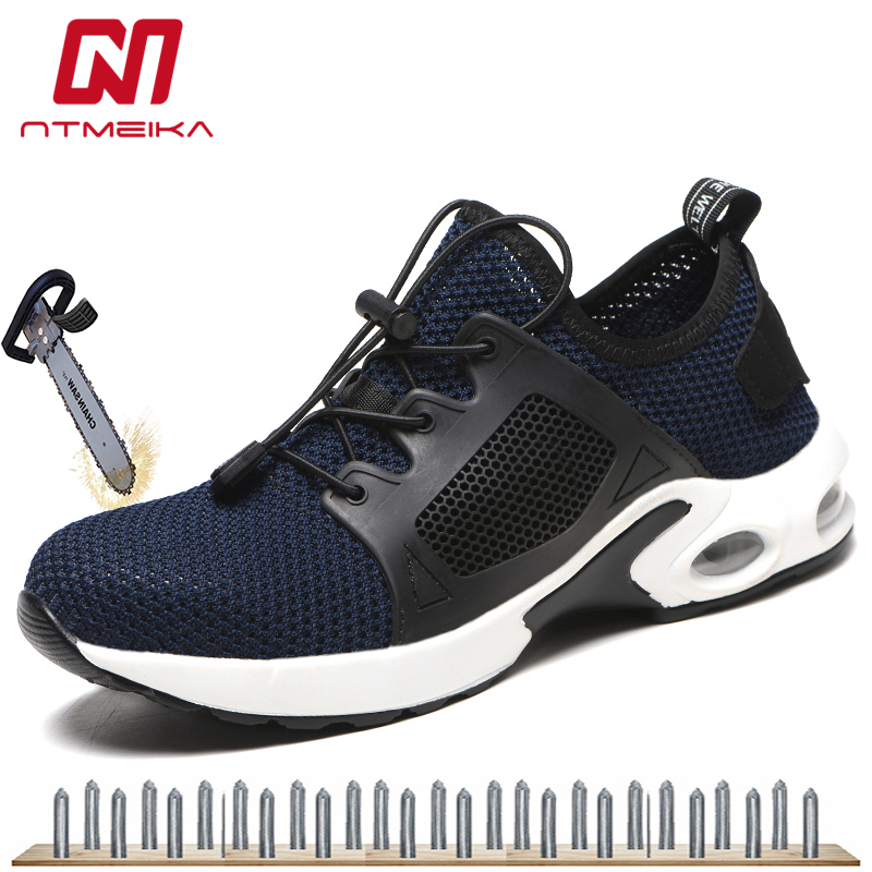 Plus Size 36-48 Safety Shoes Men Women Work Shoes With Steel Toe Breathable Work Safety Boots For Men MB249