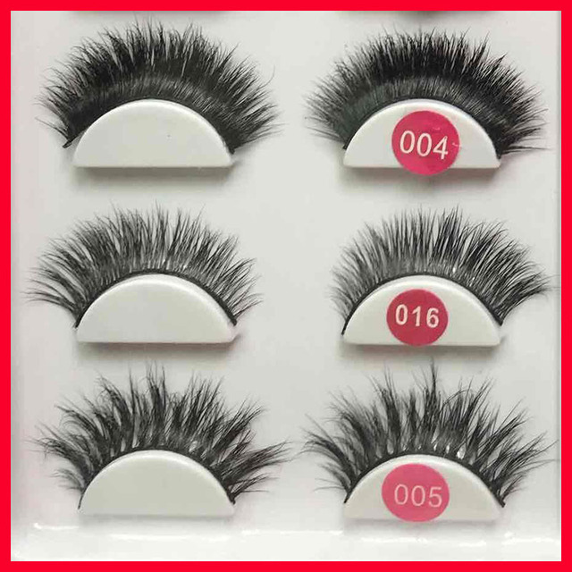 3d Mink Brazilian Real Hair False Eyelashes Strip Lashes Glue In