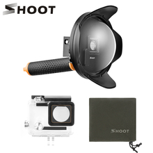 SHOOT 6 inch 2.0 Vision Dome Port for GoPro HERO 4 3+ Black Silver with Float Grip Waterproof Case Dome Go Pro Hero 4 Accessory