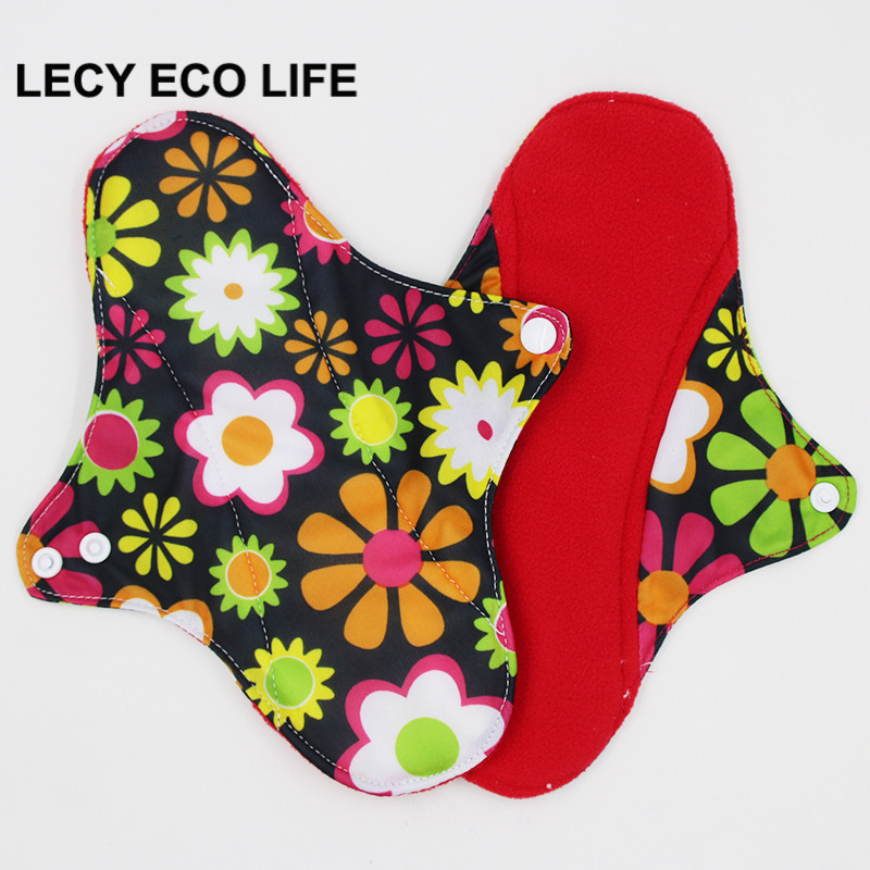 [Lecy Eco Life] Reusable lady light days cloth pads, waterproof pantyliner with bamboo charcoal inner, Feminine Hygiene Product 4