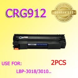 2 sztuk 912 CRG912 kaseta z tonerem kompatybilny dla Canon LBP3050 3108 3018 3100