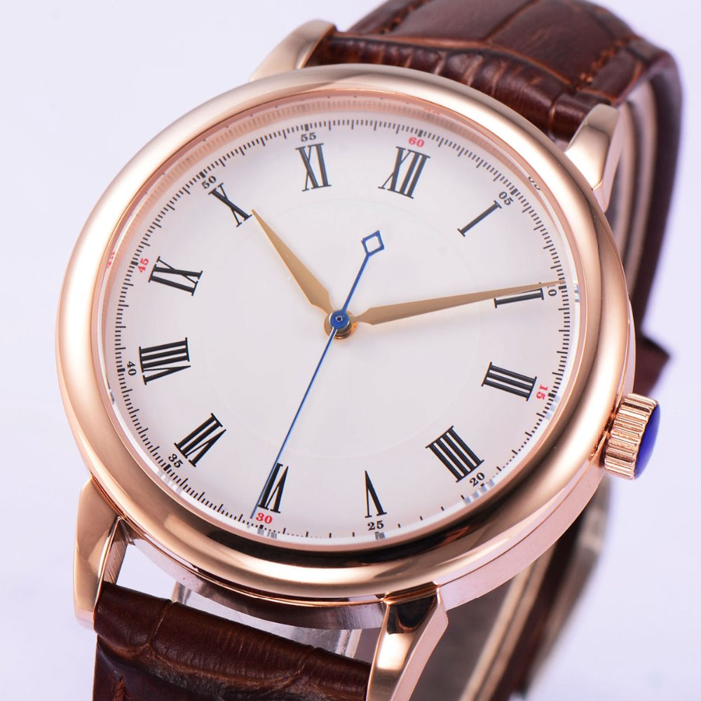 40mm corgeut white sterile dial rose gold case miyota Automatic mens Watch40mm corgeut white sterile dial rose gold case miyota Automatic mens Watch
