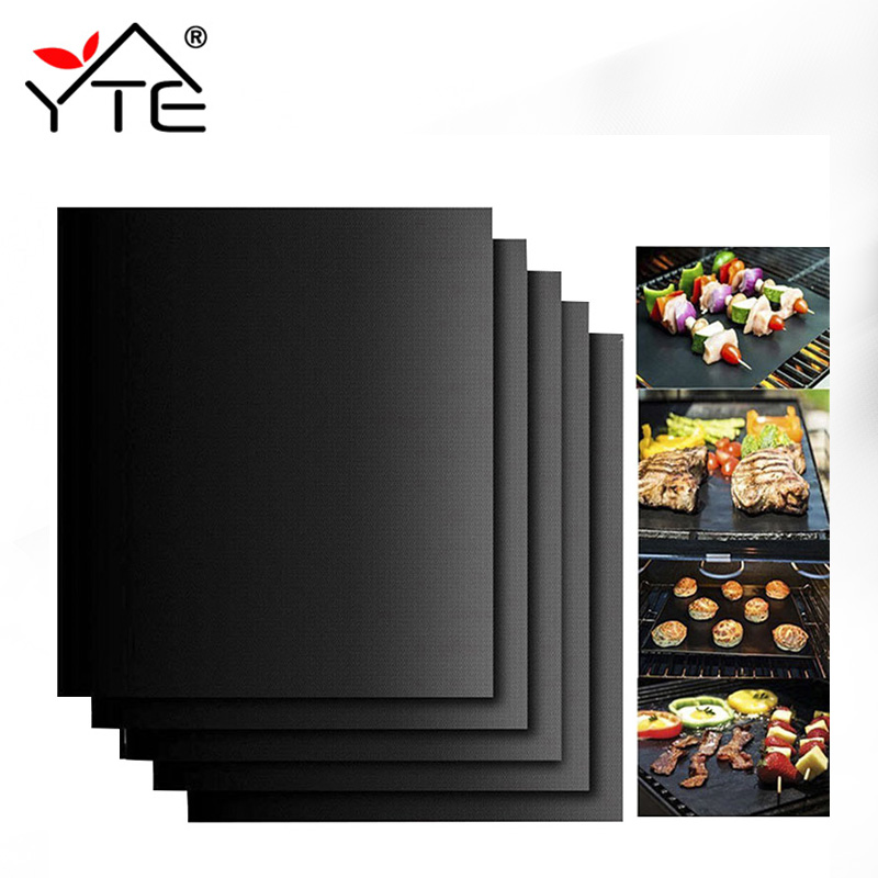 1Pc 40*30CM Non-stick BBQ Mat Barbecue Baking Liners Reusable Cooking Sheets Useful Cooking Tools ...