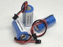 MasterFire 10pcs/lot New Original CR17335SE-R(3V) CR17335SE-R CR17335 Q6BAT CNC 3V Lithium Battery PLC Batteries with Plugs