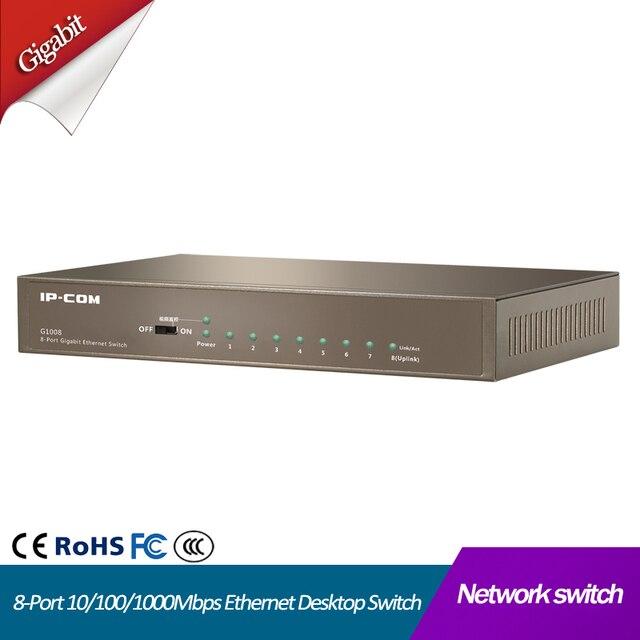 8 יציאת Gigabit מנוהל שולחן עבודה lan ethernet רכזת rj45 מלא דופלקס 8 יציאת 10/100/1000 mbps רשת ethernet מתג
