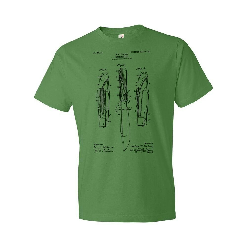 2019 Cool Hunting Knife Shirt Hunting Gift Bowie Knife Boy Scouts Survival Knife Unisex Tee image