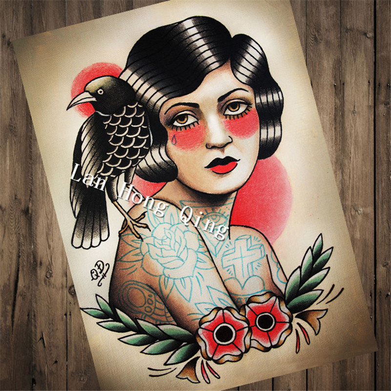 High quality Vintage Tattoos Patterned poster
