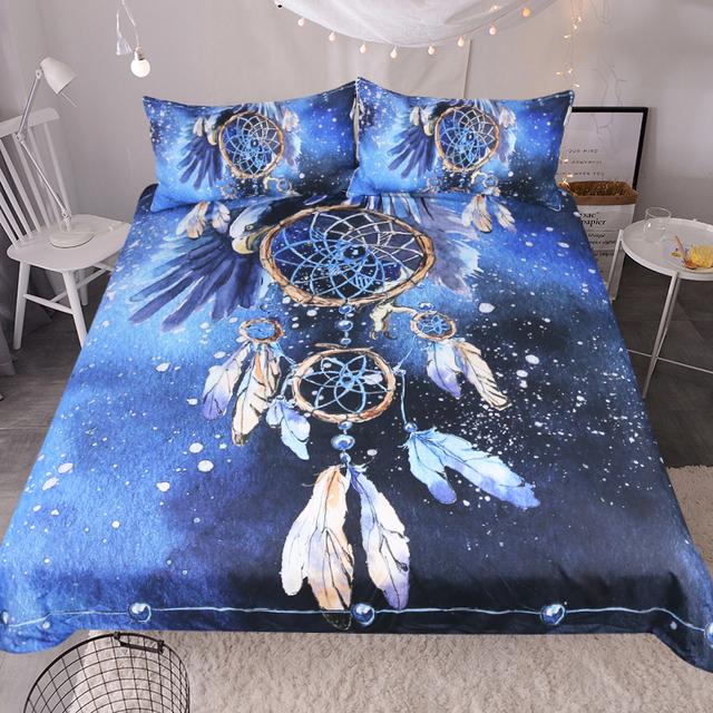 Blue Sky Feather Dreamcatcher Bedding Set