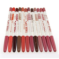 12 Pcs Women's Professional Mixed Colors Lipliner Waterproof Lip Liner Pencils09WG