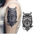 Tatuajes temporales de gran búho negro brazo falso tatuaje de transferencia pegatinas hot sexy hombres mujeres rocían diseños a prueba de agua