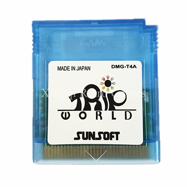 Nintendo Game Boy Color Trip World Video Game Cartridge Console Card English Language