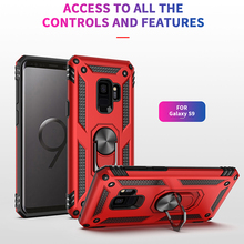 For Samsung NOTE 9 8 S9 Plus S8 PLUS Magnetic Finger Ring Holder Case Mobile Metal Rotating Magnet Phone Cover