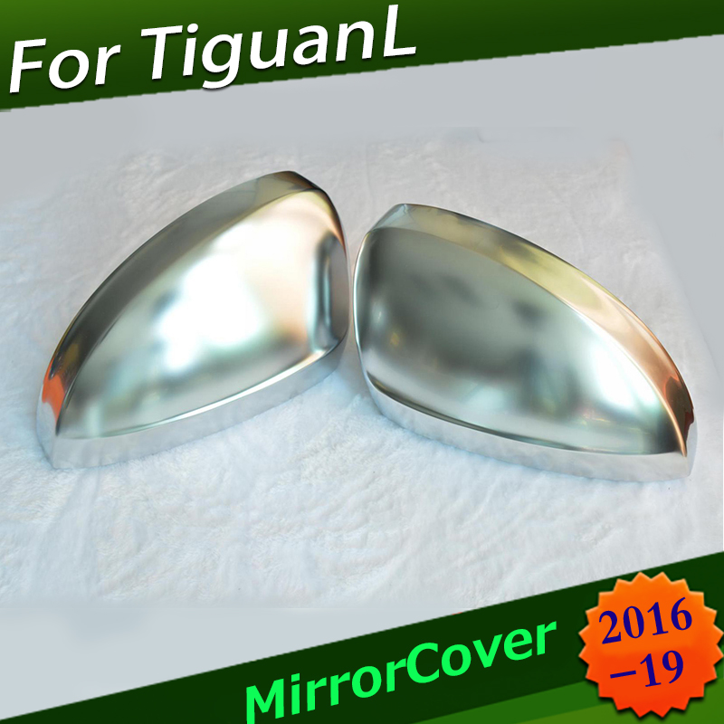 Side Mirror Caps Cover for V W TiguanL Tayron NewTouareg Allspace L MK2 2016 2017 2018 Matte Chrome replaceSide Mirror Caps Cover for V W TiguanL Tayron NewTouareg Allspace L MK2 2016 2017 2018 Matte Chrome replace