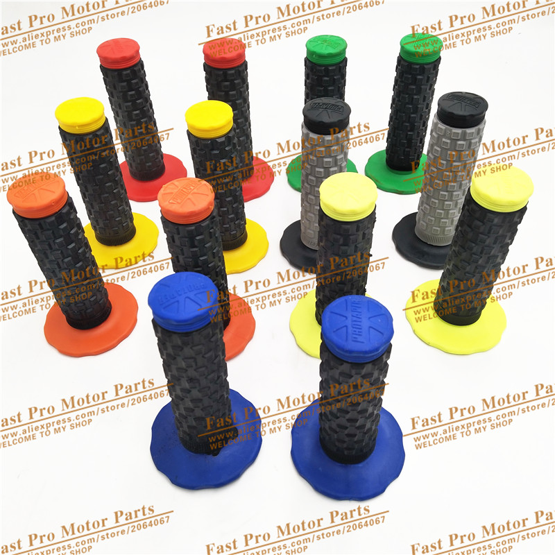 7 Colors Handle Grips Pro Taper  Handle MX Grip For Dirt Pit Bike Motocross Motorcycle Handlebar Grips Double Color Hand Grips