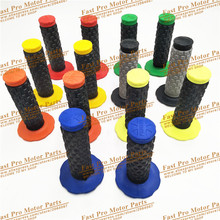 7 colors handle grips Pro Taper  Handle MX Grip for Dirt Pit bike Motocross Motorcycle Handlebar Grips Double color Hand